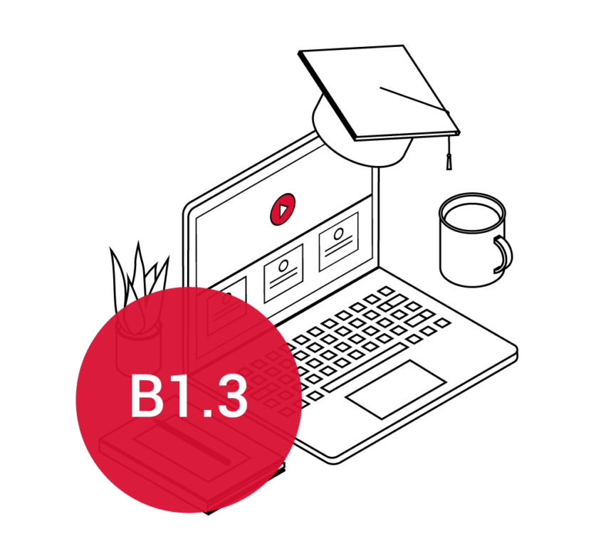 Course with certificate B1.3